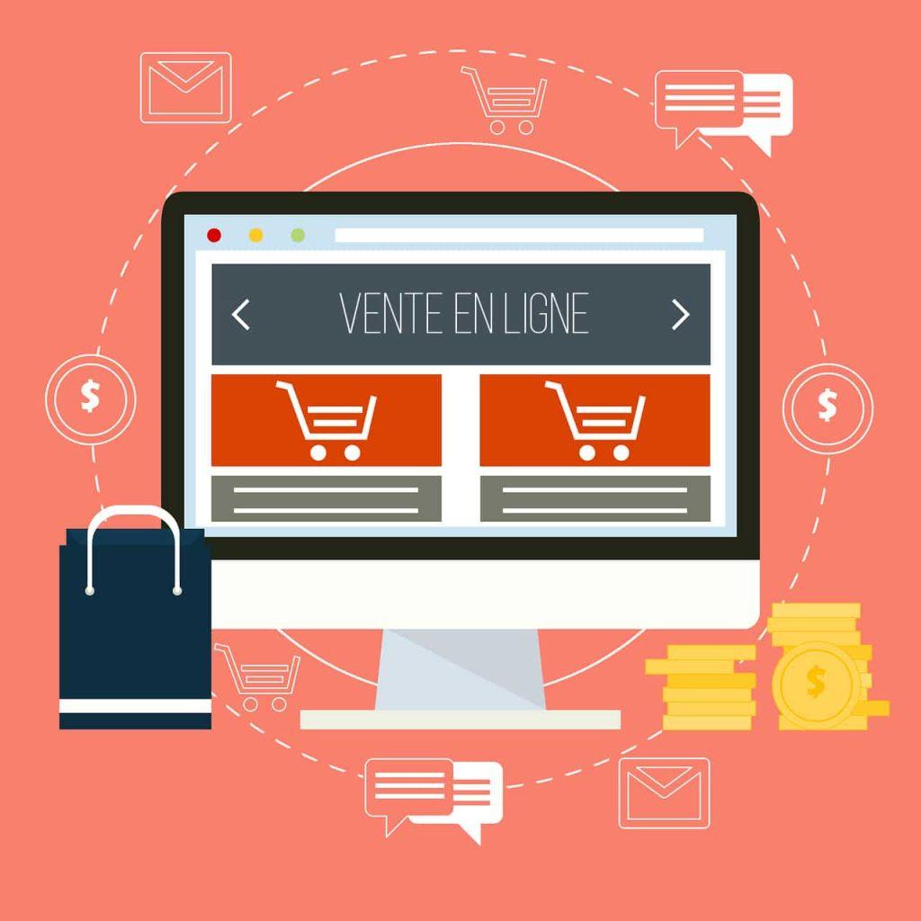 La vente en ligne représente aujourd'hui une grande partie des achats des ménages et des entreprises.